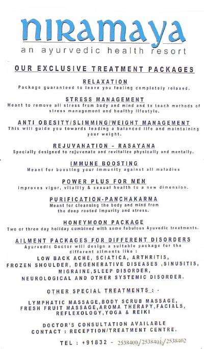 Ayurveda Treatments info.